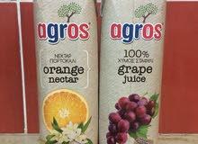عصير agros  صنع في اليونان للبيع