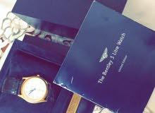 ساعة بريتلينغ بنتلي ذهب وافخر انواع جلد التمساح للبيع