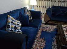 كنب 7 مقاعد اللون الكحلي و البني