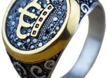 خاتم تركي تنجستين مطلي بلاتينيوم للرجال، عالي الصلابة، مقاوم الصدأ والخدش والماء