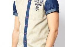قميص جينز رجالي ملون بسعر مغري جداً