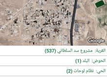 ارض للبيع في الكرك سد السلطاني 3000 متر بسعر مميز