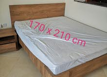 Queen size bed frame from JYSK and mattress from LULU