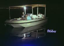 قارب نزهه 18قدم مع محرك 85