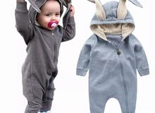 New spring autumn baby rompers cute cartoon rabbit infant girl boy sweaters kids