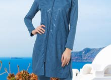 ملابس محجبات للسباحة ثمن : عدد قطع 4 مقاسات : 38.40.42.44.46
