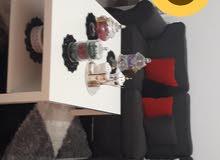 صالون من ايكيا+طاوله من ايكيا + مكتبه تلفزيون