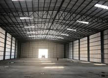 لايجار مخزن 10000 متر مرخص مخزن يصلح جميع الأنشطة التخزينية امغره الصناعية