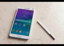 مطلوب سامسونغ Note 4 بحاله ممتازه عالفحص 4G لون ابيض