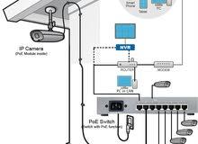فني تركيب كاميرات مراقبة ip وتركيب شبكات السلكية ولاسلكية