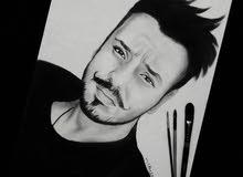 رسام 3d وشخصيات يدوي بورترية