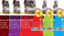 رمل قطط نخب اول 6 اكياس 13 دينار شامل توصيل