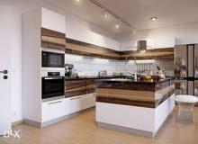 نفيز جميع انواع الخشب ديكورات مطابخ غرف نوم بواب تيفي يونت تلبيس حيطان بئسعار مغ