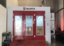 professional spraying and baking booth wurth