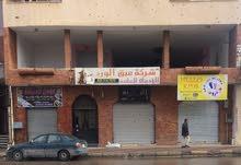 صالة للايجار بالدور الاول شارع عمر المختار