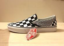 Vans checkerboard slip on men US size 10
