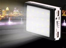 بور بانك على الطاقه الشمسيه 20000 ملي امبير شحن سريع SOLAR POWER BANK LED LIGHT