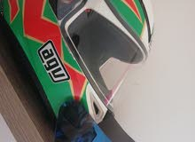 helmet agv with blue vizier and transparent 1