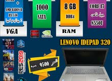 LENOVO IDEPAD 320,CORE I7رام8جيجا DDR4 جيل ثامن+فيجا DDR5 / العاب وجرافيك 2019