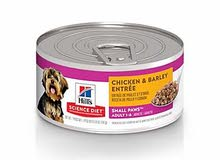 Hills Science Diet Adult Small Paws Chicken Barley Entree Canned Dog Food, 5.8 oz., 12 Pack dog food