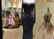 فستان كريستال اصلي مقدم من اروى للأزياء
