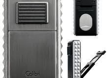 Colibri Quasar Astoria Triple-Jet Lighter – Black & Silver