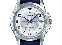 Casio casual watch. Mtp-V008, blue strap