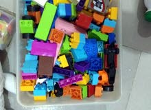 blocks and all animal toys