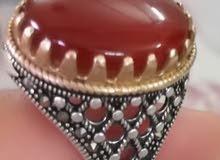 خاتم عقيق ملكي يمني