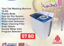 Frego Washing Machine Twin TUb (10 KG)