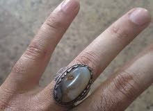 خاتم فضه حجر جزع