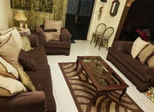 3 pieces of sofa and  table and carpet