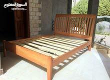 سرير زوجى خشب اصلي ماركة ايكا الشهيرة إستيراد بريطانيا