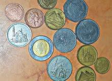 مجموعة من العملات القديمة المصرية والأجنبية نادرة جدا