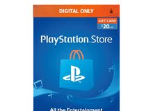 Playstation Network $20 USD Card - PSN 20 Dollar - PS4 PS3 - US Store Key Code