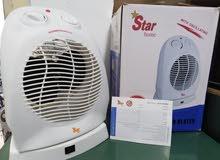 دفاية كهرباء مروحة متحركة هواء ساخن جديدة بالكرتونة