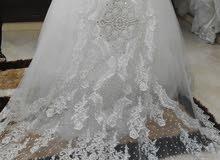 فستان زفاف جميل وراقي