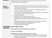 Accountant available for job