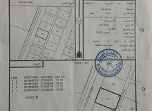للبيع ارض  سكنية في بركاء العقدة الثالثة على اول خط من الشارع