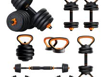 Kettlebells / Adjustable Dumbbells / Barbell / Push Ups Shelf Weights Set 20 Kg