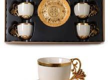 اطقم فناجين قهوة تركية صناعة يدوية