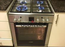 ;-Bosch latest model full gas cooker with digital clock 60cm