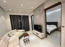 دبي بيزنس باي غرفة وصالة مفروشة مع بلكونة - ايجار شهري شامل