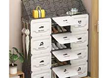 خزائن اخذية بلاستك مقوى خفيف مع رف علوي تتسع ل أحذية من 20 إلى 48 حذاء