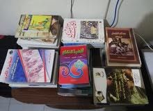 مكتبة مستعملة للبيع بحالة ممتازة 54 كتاب بسعر حصري للبيع كاملة ومتفرقة