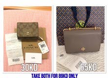 Brand New&Original Tory Burch Bag & Coach Wallet