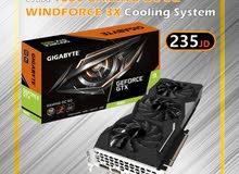 GIGABYTE GTX 1660 GAMING OC 6G WINDFORCE 3X Cooling System  كرت شاشة بأفضل الاسعار
