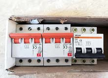 قواطع كهرباء 3 فاز سعر الحبه 5  وقاطع تحويل  كهربائي يدوي اسباني 400 امبير  بسعر