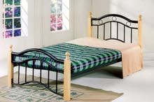 Wood Steel Single Beds (Made in Malaysia) with Medical Mattress