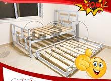 سرير بسريرين فورجيه حديد محمل يستحمل أى وزن